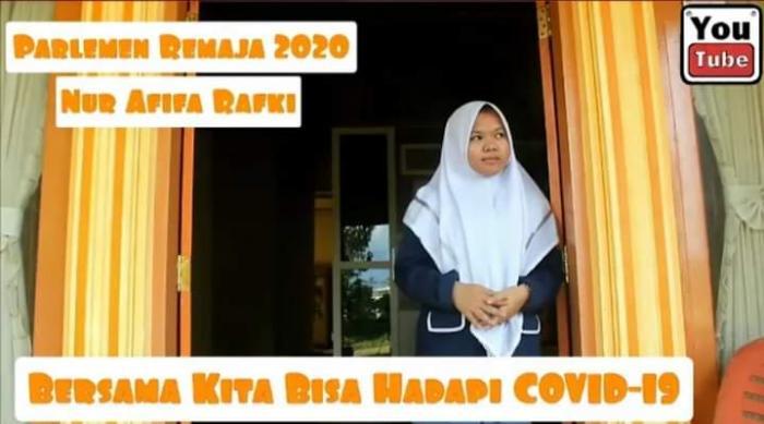Nur Afifa, Siswi MAN 1 Kerinci Lolos Menjadi Parlemen Remaja DPR RI Tahun 2020